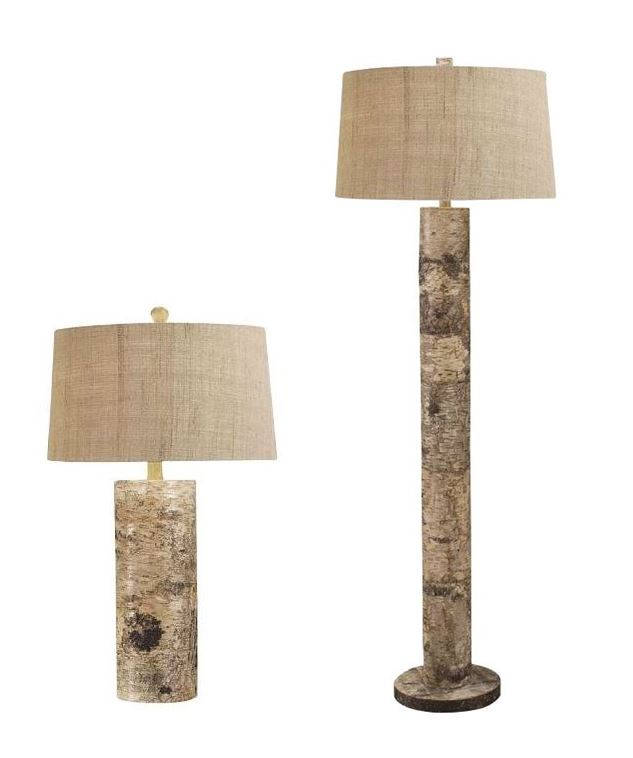 Aspen Bark Table and Floor Lamp - Bring In Nature With Lamps |