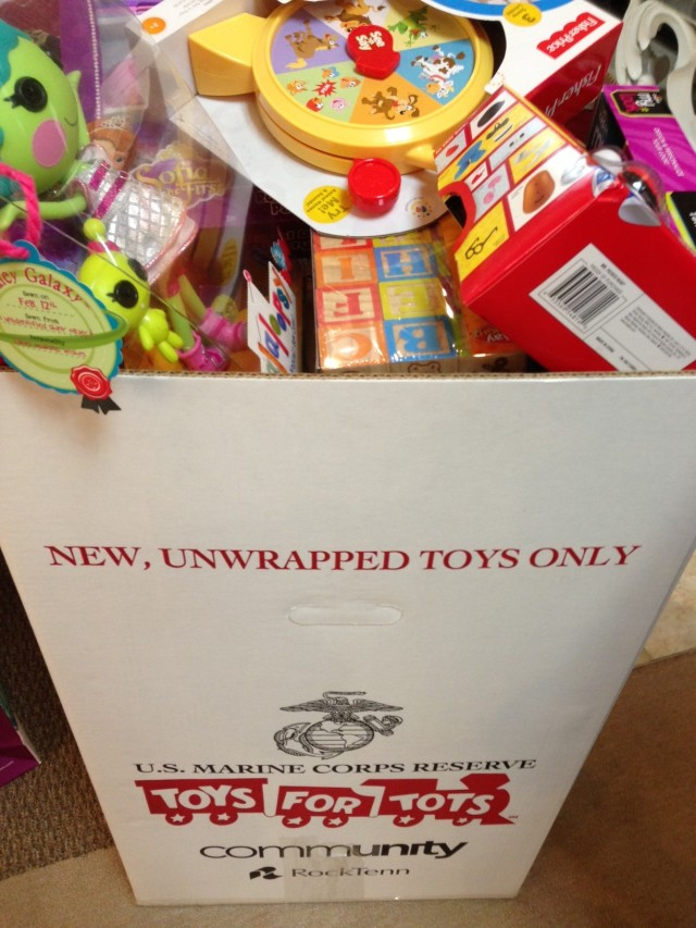 Toys For Tots Box : Bridging the gap between traditional and